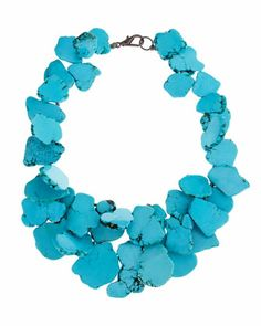 { chunky turquoise necklace }