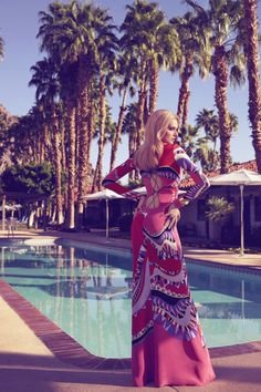 Spring and Summer 2015 Fashion Shoot - Lily Donaldson Models in Palm Springs California Fashion Editorial Pool Fashion, Fashion Shoot, Editorial Fashion, Fashion Models, Fashion Fashion, Fashion Watches, Fashion Brands, Palm Springs Fashion, Palm Springs Style