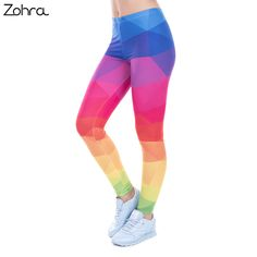 da0428096291ff US $6.38 29% OFF|Zohra Autumn Winter Leggings Printed Women Legging  Colorful Triangles Rainbow Legins High Waist Elastic Leggins Silm Women  Pants-in ...