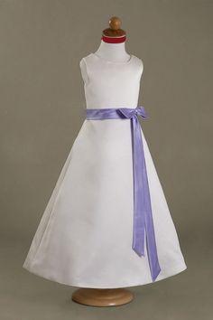 A-line Scoop Neck Sleeveless Sashes / Ribbons Floor-length Flower Girl Dresses $179.99 Wedding Party Dresses