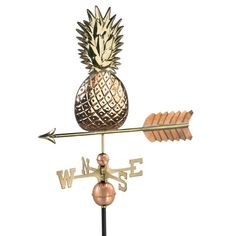 Good Directions Pineapple Polished Copper Weathervane