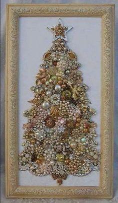 Mooie kerstboom in lijst.