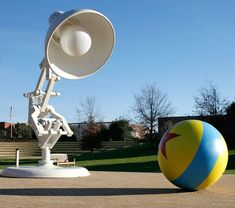 where I am greeted by the famous lamp and ball from Luxo Jr, Pixar's first film.