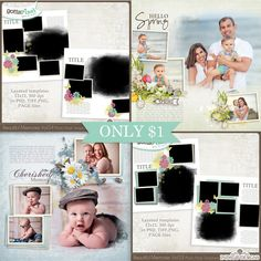 Make your pages extra-special with these New Beautiful Memories Templates with Photo Mask – ONLY $1 until April 17!  http://www.gottapixel.net/store/manufacturers.php?manufacturerid=152