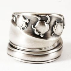 Sterling Silver Lily of the Valley Spoon Ring in by Spoonier