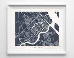 Can Tho Street Map Print