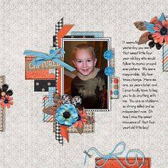 Page made by Tia using Stitched Up #01 | Templates by Akizo Designs (Digital Scrapbooking layout)