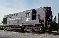 Norfolk & Western Railroad, Alco RSD-12 diesel locomotive in Norfolk, Virginia, USA