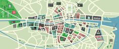 Dublin City Map by Peter Donnelly, via Behance
