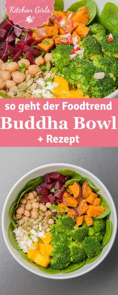 We tell you what a Buddha Bowl is and give you the basic recipe and our favorite recipe! The post Basic recipe for Buddha Bowl appeared first on Food Monster. Healthy Salad Recipes, Vegetable Recipes, Vegetarian Recipes, Vegetarian Cooking, Vegetable Noodles, Thai Recipes, Shrimp Recipes, Lunch Recipes, Beef Recipes
