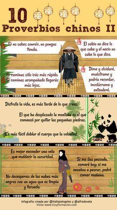 Hola: Una infografía con 10 proverbios chinos (II). Realizada con Piktochat. Un saludo