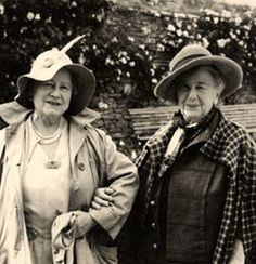 The Queen Mother (1900-2002) and Dame Freya Madeline Stark, DBE, (1883-1993) British explorer and travel writer.