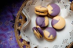 Choco-Caramel Passion Fruit Jelly French Macarons recipe