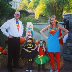 Me as Wonder Woman and add a boy as Spider-Man. Superhero Family Costumes, Family Halloween Costumes, Halloween 2017, Halloween Cosplay, Holidays Halloween, Diy Costumes, Scary Halloween, Halloween Themes, Halloween Party