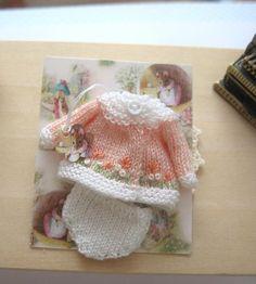 casa de muñecas bebé muñeca ropa punto traje bordado 12 escala