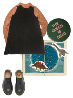 """""""A book like this"""" by violetteandgrunge ❤ liked on Polyvore featuring Rebecca Minkoff and Dr. Martens"""