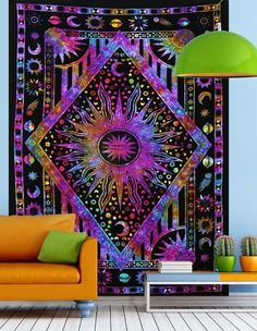 Do you even go to college if you don't have a tapestryhanging in your dorm room?Just kidding...but not really. The whole tapestries as dorm decor trend has run rapid, but for good reason- the results are incredibly cute. Whether draped from the cieling...