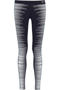 Nike | Printed Reflective stretch-jersey leggings | NET-A-PORTER.COM