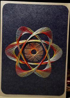 Fadengrafik Karte Weltall Universum Planet 04  von Rene´s Fadengrafiken auf DaWanda.com