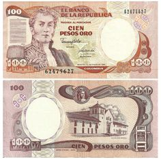 Colombia Pesos banknotes for sale. Dealer of quality collectible world banknotes, fun notes and banknote accessories serving collectors around the world. Over 5000 world banknotes for sale listed with scans and images online. Folding Money, World Coins, Native Indian, Coin Collecting, Way To Make Money, Vintage World Maps, History, People Of The World, Second Job