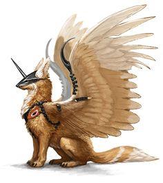 Winged guardian.