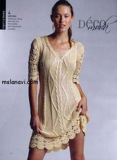вязаные платья спицами фото