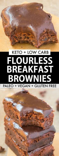Flourless Breakfast Brownies recipe made with pumpkin and WITHOUT eggs and sugar perfect for a vegan and keto diet! Pegan too! Flourless Breakfast Brownies recipe made with pumpkin and WITHOUT eggs and sugar perfect for a vegan and keto diet! Pegan too! Pumpkin Breakfast, Low Carb Breakfast, Breakfast Ideas, Breakfast Gravy, Breakfast Cereal, Breakfast Recipes, Breakfast Omelette, Breakfast Biscuits, Low Carb Desserts