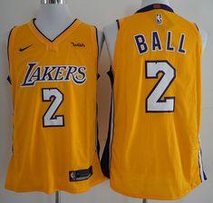 ccddeae1ce7 17-18 New season Lakers 2 Bauer Yellow Nike player size S M L XL XXL XXXL