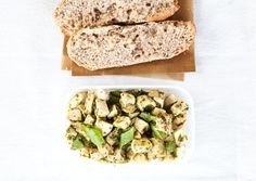 Pesto Chicken Rolls: Use up your leftover chicken in this yummy pesto roll. For bonus health points, add a few veggies in, too, like sugar snap peas, tomatoes, or bell peppers! #healthy #recipe