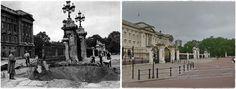 Londra  esterno di Buckingham Palace   danneggiato da una bomba.  Settembre 1940