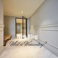 BLOG - What is wainscoting? It's an old fashioned word used to describe wall panelling below waist height. We're exploring the styles of wainscoting and introducing you to some new panelling ranges in our blog! Wainscoting Panels, Wall Panelling, Wood Panel Walls, Wood Wall, Library Ladder, Dado Rail, Door Molding, Architectural Elements, Other Rooms