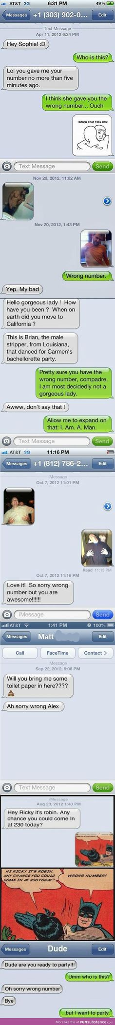 Wrong number compilation! But I want to party:( lol sorry dude