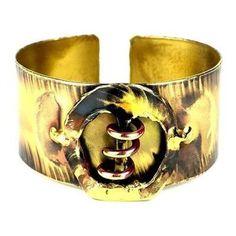 Copper Spring Brass Cuff - Brass Images (C)