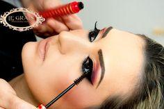 Maquiagem demonstrada em curso de maquiagem do LE GRAIN - BELO HORIZONTE MG BRAZIL