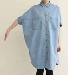 From Ambidex Japan. Love. I wonder if I could DIY something like this using an oversized men's chambray shirt?