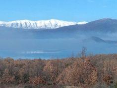 Prespes,  small Lake fog view from Nalbantidis Hill