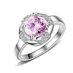 MG Jewelry Fashion Women's 316L Stainless Steel Round Pink Cubic Zirconia CZ Eternity Engagement Ring Mealguet http://www.amazon.com/dp/B017HAQQDA/ref=cm_sw_r_pi_dp_8wwowb123JVKA