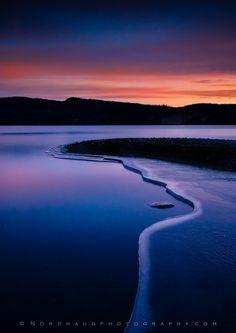 Morning blues--Lake Jonsvatnet, Trondheim, Norway.