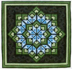 Starburst Star Pieced Dereck Lockwood Quilt Pattern #LockwoodEnterprises