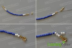 make the first part of the seed bead stitch pendant necklace