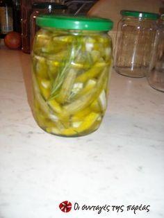 Μεζές με κολοκυθάκια #sintagespareas Greek Recipes, Finger Foods, Preserves, Pickles, Basil, Cucumber, Salads, Food And Drink, Appetizers