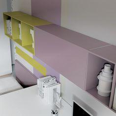 #bookcase #librero #color #diseño #lonuevo #calidad #BESAK #fun #design #quality #repisas #modular #mobiliario