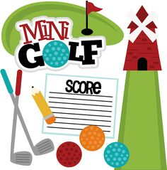 It's mini golf day! I always enjoyed mini golf. But I haven't played in years! Do you like mini golf? Scrapbook Images, Disney Scrapbook, Baby Scrapbook, Travel Scrapbook, Scrapbooking Layouts, Digital Scrapbooking, Golf Clip Art, Paper Journal, Cute Clipart