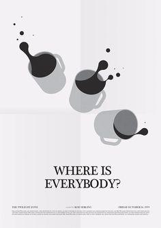 'Where Is Everybody' Twilight Zone poster. Mike Lemanski #design #posterdesign #graphicdesign #britishposter #illustration #type #typography #twilightzone