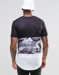 Camiseta con panel en estampado de camuflaje de Hype b2914d81336