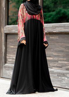 Layla Abaya in Maroon Paisley – Al Shams Exceptional Islamic Apparel Dress Brokat Muslim, Muslim Long Dress, Abaya Fashion, Muslim Fashion, Women's Fashion Dresses, Mode Abaya, Mode Hijab, Abaya Designs, Designs For Dresses