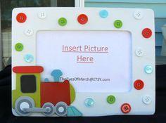 TRAIN, Button Picture Frame