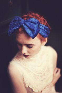 d6eb4a2a Royal Blue velvet bow headband Daisy Headband, Chain Headband, Chain  Headpiece, Turban Headbands