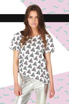 SNOWY TRIANGLES T-SHIRT by PLASTICBONESSTORE on Etsy