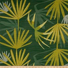Designed by Justina Blakeney, founder of The Jungalow™, this beautiful jacquard fabric is heavyweight (11.41 ounces per square yard) and features a palm frond foliage pattern throughout. Dabito was inspired by a palm tree in Justina's garden: forever dynamic -- changing colors and quickly growing. Bring in boho botanical details to your window treatments (draperies, valances), toss pillows, heavier duvet covers, and upholstery projects. Colors include shades of green, shades of yellow, an...